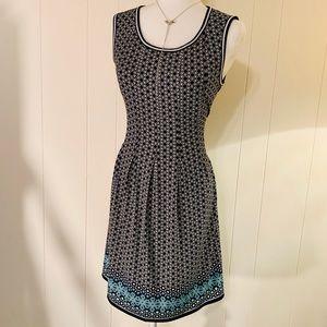 Max Studio Geometric Jersey Knit Dress